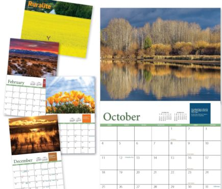 views of the 2020 Ruralite Calendar