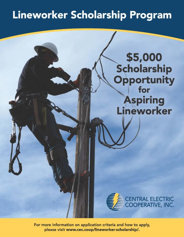 Lineworker Scholarship Advertisement