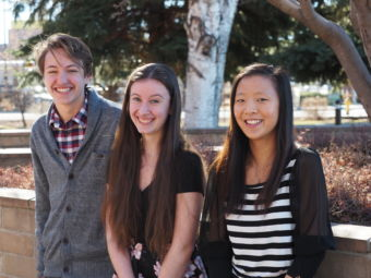 Emmett Stevens, Chantel Rumenapp, and Kelly Huang will represent CEC in June.