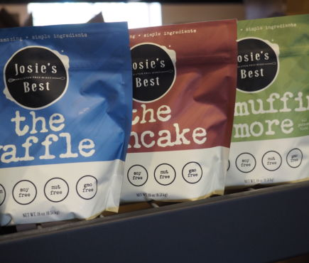 Josie's Best Gluten Free mixes including The Waffle, The Pancake, and Muffin and More Mix