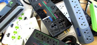 A pile of various power strips